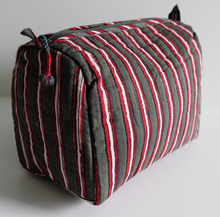 Load image into Gallery viewer, Hand Block Printed Toiletries Bag - Cambridge Stripe - Various Sizes - Anokhi