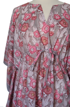 Load image into Gallery viewer, Midi Kaftan - Hollyhock Gray - free size - Anokhi