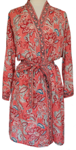 Load image into Gallery viewer, Short Robe - Paisley Flower - free size - Anokhi