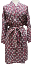 Load image into Gallery viewer, Short Cotton Robe - Pentalisa Stripe - free size - Anokhi