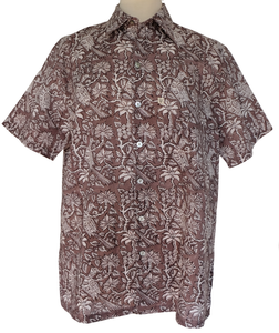 Mens Summer Shirt - Botanicals - 100% cotton - Anokhi
