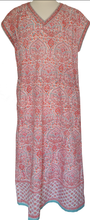 Load image into Gallery viewer, Cap sleeved Nightdress - Turret Paisley - 100% Cotton - Anokhi