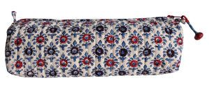 "Hand Block Printed Pencil Case - Optional Prints - 8""L x 2.5H - Anokhi"