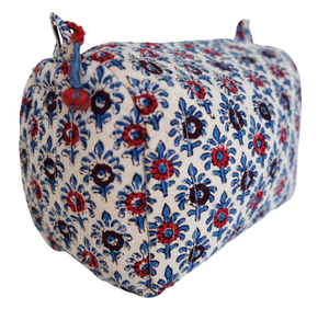 Hand Block Printed Toiletries Bag - Palm Spot - Anokhi