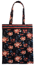 Load image into Gallery viewer, Cotton tote bag - Rose Charcoal - Anokhi