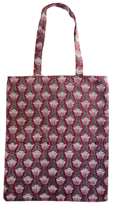 Cotton tote bag - Pentalisa Red - Anokhi