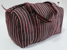 Load image into Gallery viewer, Quilted Travel Bag - Cambridge Stripe - 100% Cotton - Anokhi