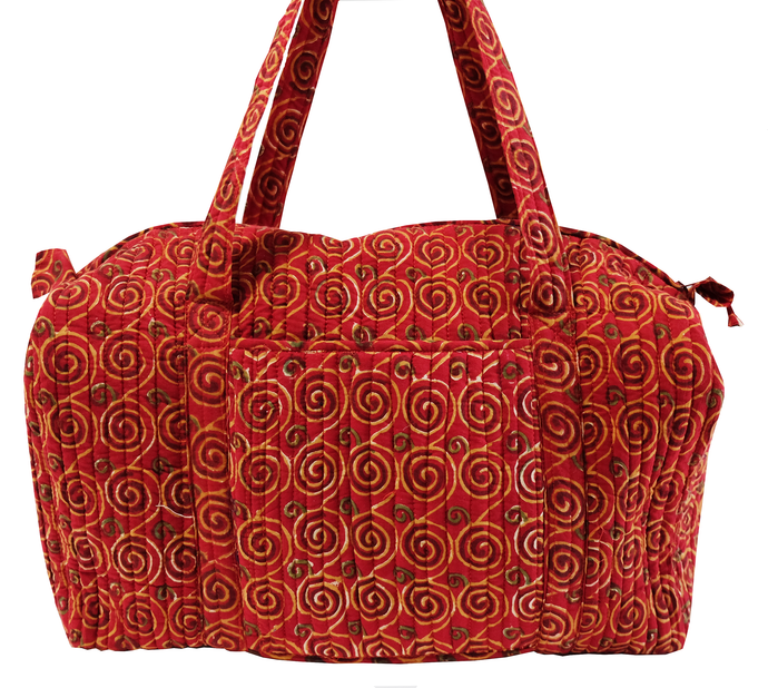 Quilted Travel Bag - Klimt - 100% Cotton - Anokhi