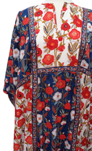 Load image into Gallery viewer, Tulip Kaftan - Deco Rose Patchwork - Free Size - Anokhi