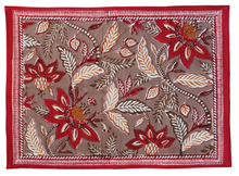 Load image into Gallery viewer, Cotton Placemats and Napkins, set of 8 - Bali Flower - Anokhi
