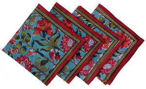 Cotton Placemats and Napkins, set of 8 - Samode - Anokhi