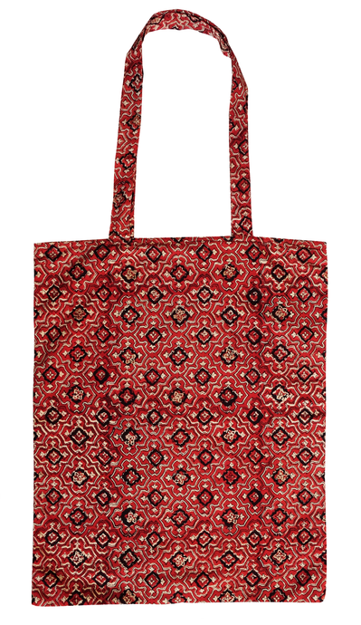 Cotton tote bag - Trellis Terracotta