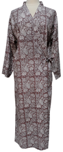 Load image into Gallery viewer, Long Wrap Kimono Robe - Botanicals Mink - free size - Anokhi