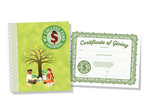 Image of My College Fund Journal & Certificate of Giving