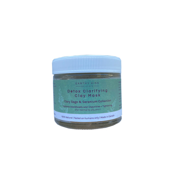 Soothing & Calming Clay Mask - Clary Sage & Geranium Collection for normal, oily and sensitive skin | Earthy Kiss 德國快樂鼠尾草天竺葵系列: 3合1升級版紓緩鎮靜海底泥面膜 (適合一般、油性及敏感皮膚)