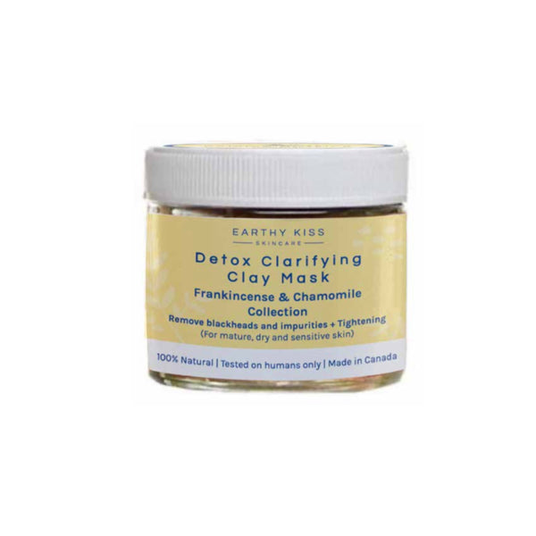 Detox Clarifying Clay Mask - Frankincense & Chamomile Collection for mature, dry and sensitive skin | Earthy Kiss 德國乳香洋甘菊系列: 3合1升級版深清潔海底泥面膜 (適合乾性、敏感及成熟皮膚)