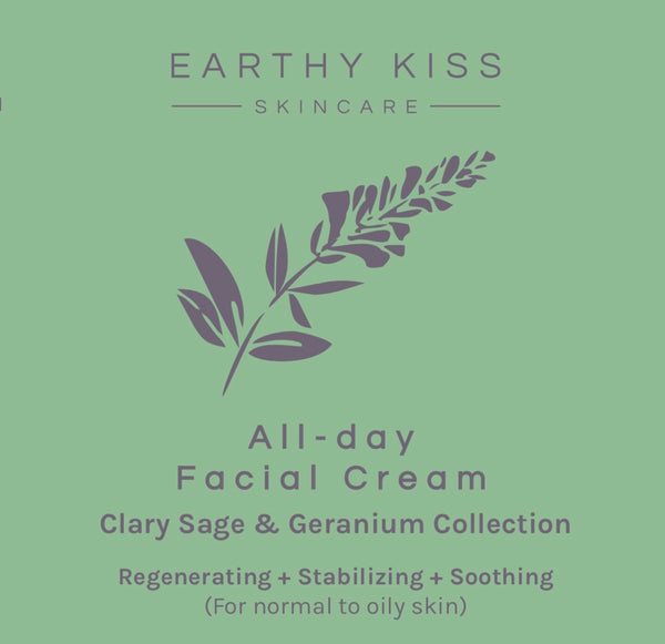All-day Facial Cream for Normal, Oily and Sensitive skin・Earthy Kiss 德國醫療級快樂鼠尾草天竺葵全日紓緩乳霜 (適合一般、油性及敏感皮膚)