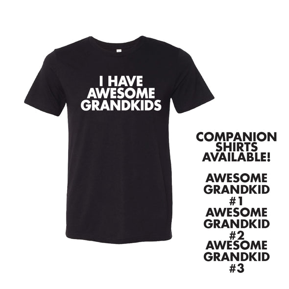I Have Awesome Grand Kids (T-Shirt or Hoodie)