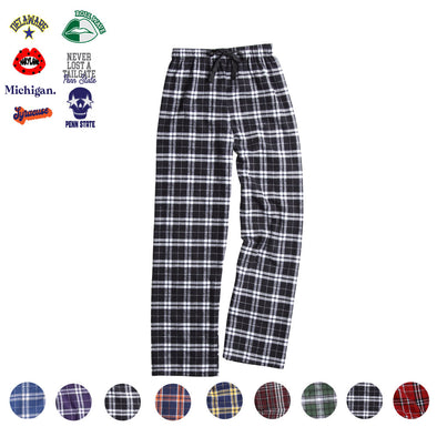 College Flannel Pants - Custom Bar