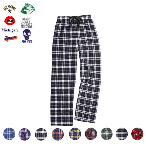 Custom Flannel Pants - College Graphics
