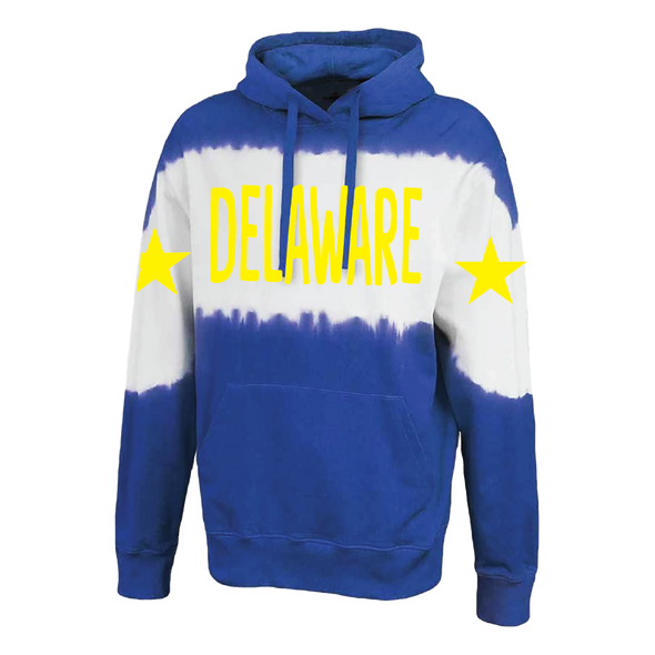 Custom Dye Stripe Star Hoodie - College & Stars