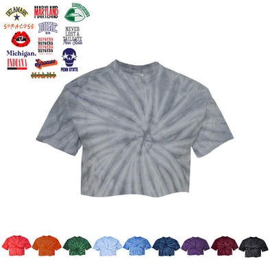 Tie Dye Cropped Tee - College Custom Bar