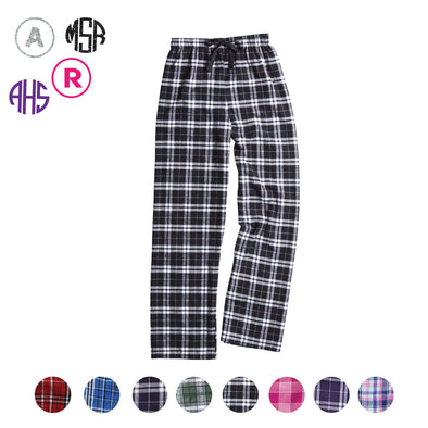 Flannel Pants - Initial or Monogram - Custom Bar