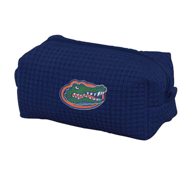 College Patch Waffle Weave Small Cosmetic Bag