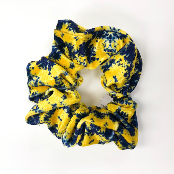 Yellow and Blue Scrunchie