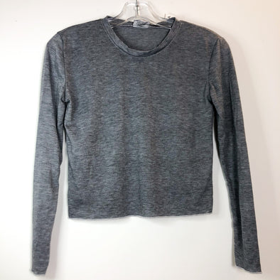 Firehouse Cropped Long Sleeve Soft Tee - Grey