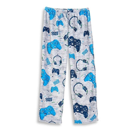 Blue Gamer Fuzzy Pants - TopTrenz