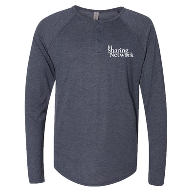 NJ Sharing Network Triblend Long Sleeve Henley