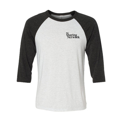 NJ Sharing Network Bella Triblend 3/4 Sleeve Baseball Shirt