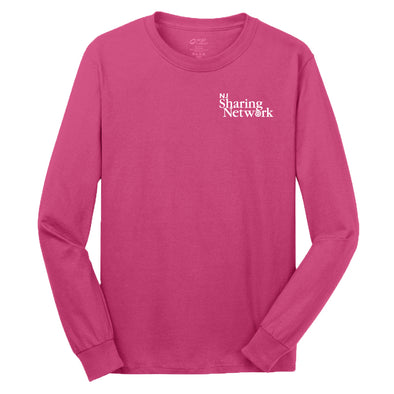 NJ Sharing Network Long Sleeve Cotton Tee
