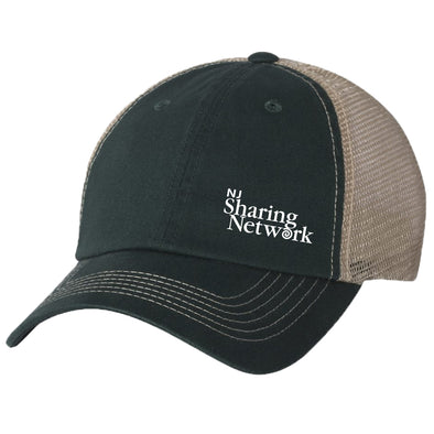 NJ Sharing Network Mesh Back Trucker Hat - Forest Green