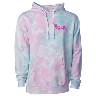 NJ Sharing Network Tie-Dyed Hooded Sweatshirt - Cotton Candy