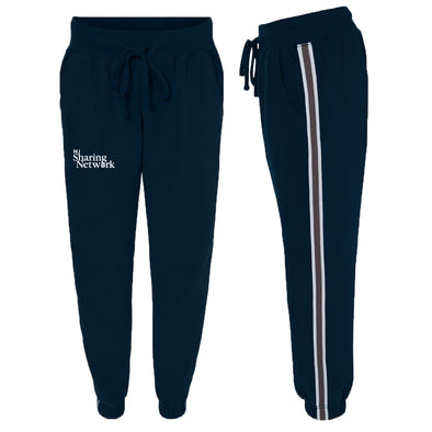 NJ Sharing Network Striped Ladies Fleece Joggers