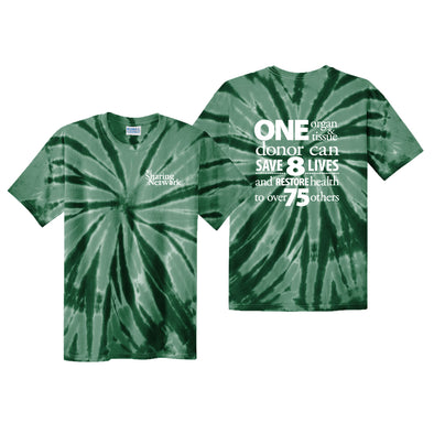 NJ Sharing Network Tie-Dye Tee - Green