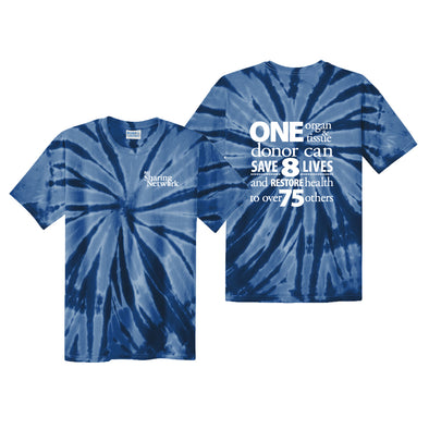 NJ Sharing Network Tie-Dye Tee - Navy