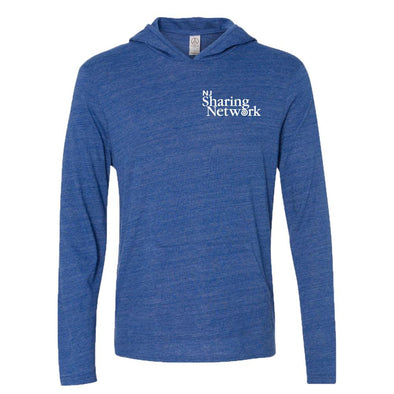 NJ Sharing Network Men's Alternative Apparel T-Shirt Hoodie - Pacific Blue