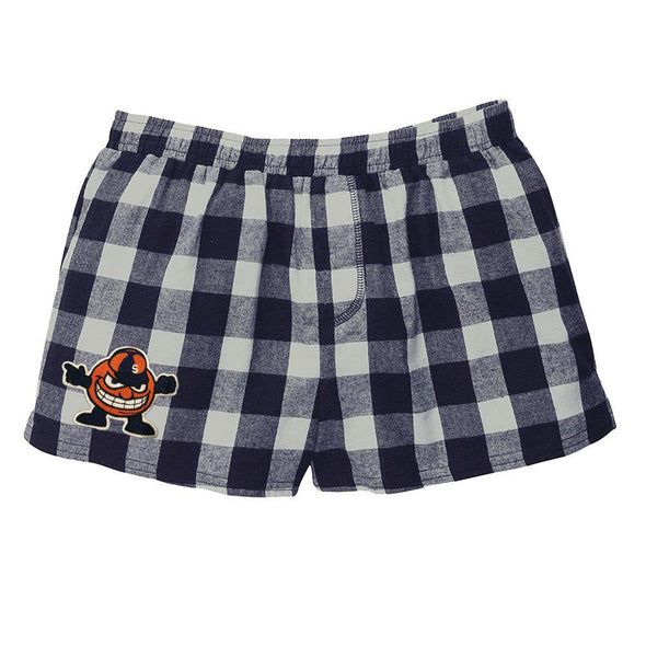College Patch Plaid Flannel Shorts