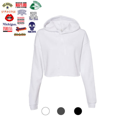 Custom Cropped Hooded Sweatshirt - College Graphics