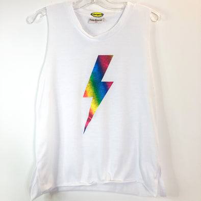 Firehouse Muscle Tank With Tie-Dye Foil Bolt