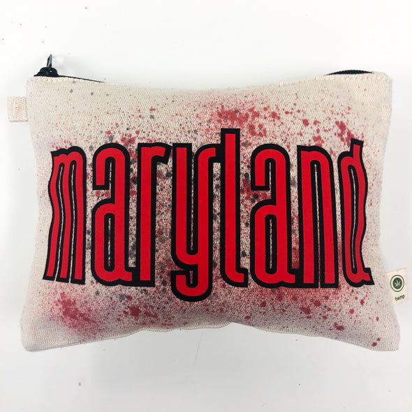 College Splatter Hemp Cosmetic Bag - Maryland