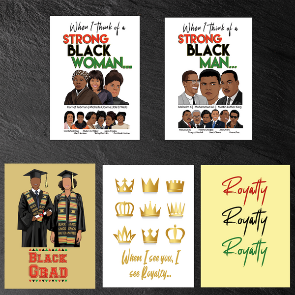 All 5 Black365 Greeting Cards (Buy 4, get 1 Free!)