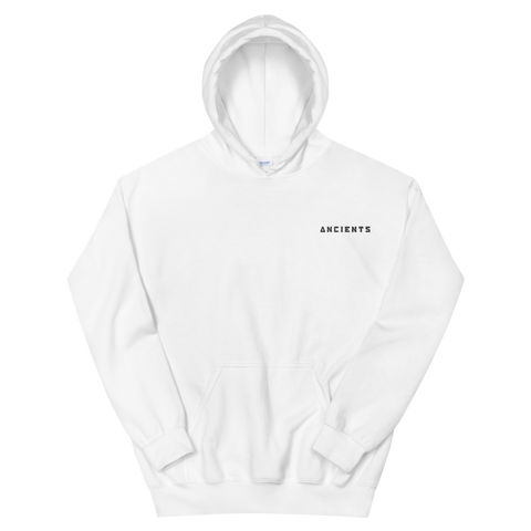 Embroidered Ancients Text Hoodie