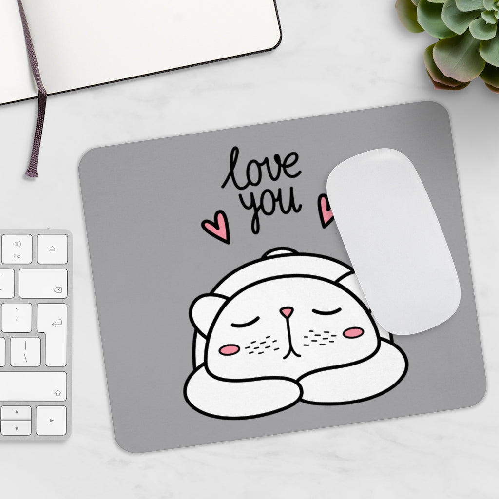 I Love You - Cubby Cat Mousepad