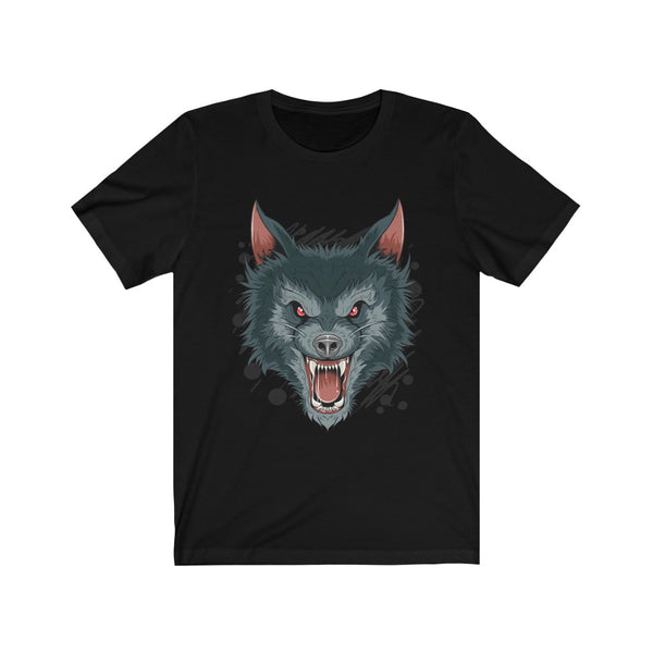 A Shirt for Boys Ware Wolf Dark Night Beast Quadruped Barbarity Unisex Jersey Short Sleeve Tee