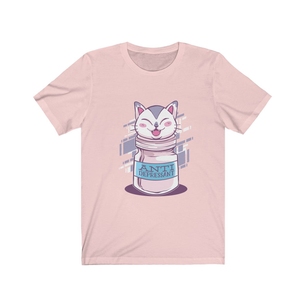 Anti Depressive Cat Unisex Jersey Short Sleeve Tee