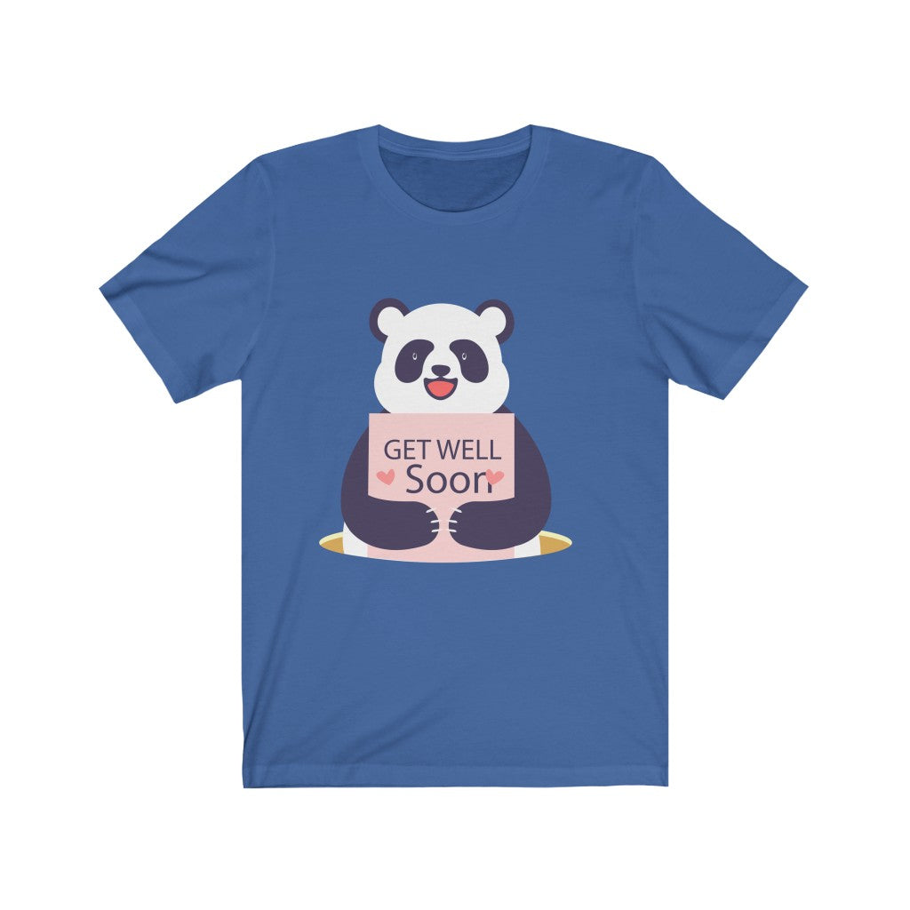 Get well soon! Cute Panda - Coronavirus Edition Unisex Jersey Short Sleeve Tee